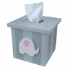 Pink and Grey Elephant Tissue Box Cover