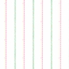 Pink and Mint Squiggle Stripe Wallpaper