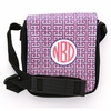 Pink and Navy Greek Key Monogram Sling Bag