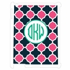 Pink and Navy Moroccan Personalized iPad Case