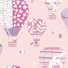Pink and Purple Hot Air Balloons Wallpaper
