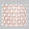 Pink And White Pom Pom Large Drum Shade