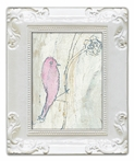 Pink Bird Decorative Framed Art Print