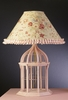 Pink Birdcage Lamp