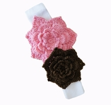 Pink & Brown/White Headband