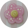 Pink Bubblegum Flower Drawer Knob