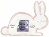 Pink Bunny Character Personalized Ceramic Picture Frame