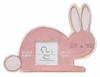 Pink Bunny on White Ceramic Picture Frame