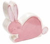 Pink Bunny on White Coin Bank