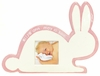 Pink Bunny Silhouette Personalized Ceramic Picture Frame