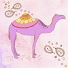 Pink Camel Canvas Wall Art