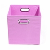 Pink Canvas Storage Bin