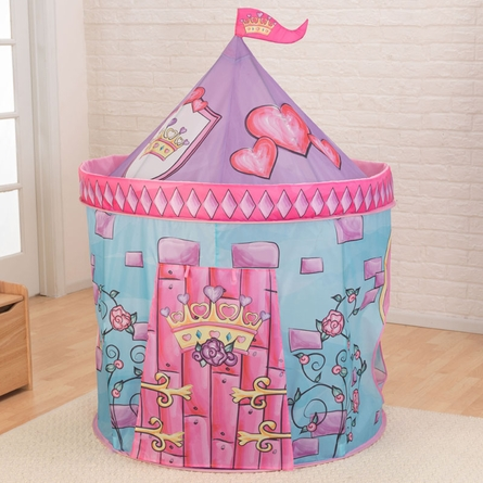 Pink Castle Tent with Tunnel