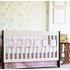 Pink Chevron Flat Panel Crib Skirt