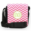Pink Chevron Monogram Sling Bag