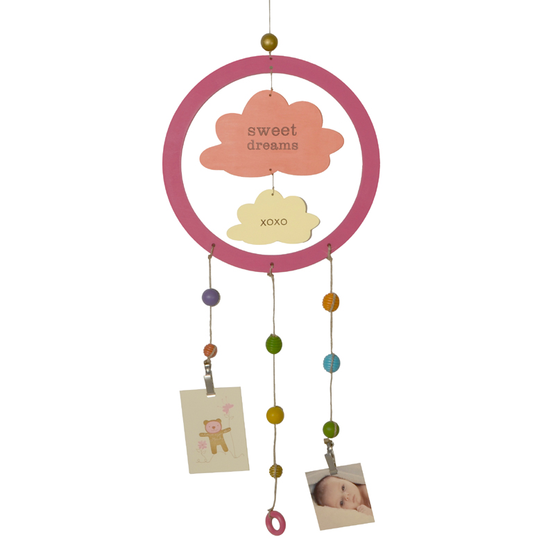 Pink Cloud Dream Catcher Photo Holder By Tree By Kerri Lee