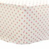Pink Coral Dottie Crib Sheet