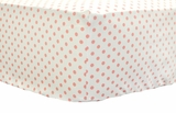 Pink Coral Dottie Crib Sheet $(+54.00)