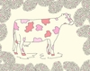 Pink Cow Canvas Wall Art