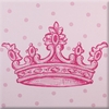 Pink Crown Imagination Square Hand Painted Canvas Art