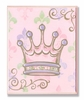 Pink Crown Wall Plaque