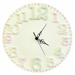 Pink Cut Out Wall Clock