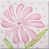 Pink Daisy Imagination Square Hand Painted Canvas Art
