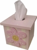 Pink Daisy Tissue Box Cover