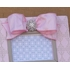 Pink Damask Stripe Embellished Picture Frame
