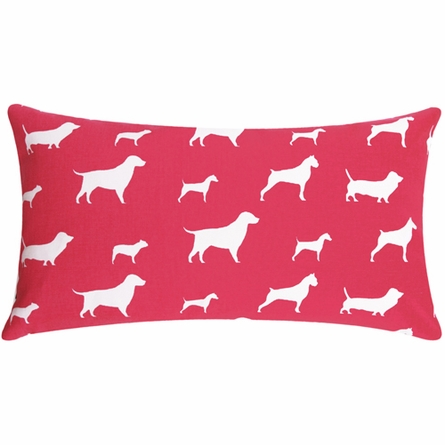 Pink Dog Large Lumbar Pillow
