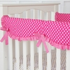 Pink Dot Crib Rail Cover