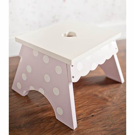 Pink Dot Step Stool