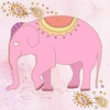 Pink Elephant Canvas Wall Art