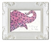 Pink Elephant Decorative Framed Art Print