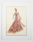 Pink Evening Dress Framed Couture Barbie Art Print