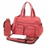 Pink Faux Buffalo Carry All Diaper Bag