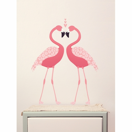 Pink Flamingos Fabric Wall Decals