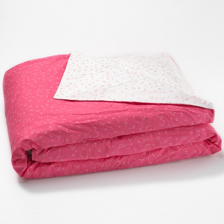 Pink Flutter Reversible Queen Duvet Cover