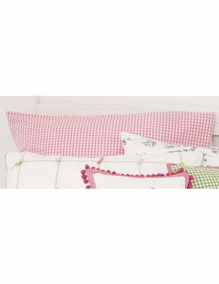 Pink Gingham Check Standard Pillowcase