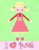 Pink Girl Canvas Reproduction