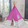 Pink & Gray Chevron Deluxe Play Teepee