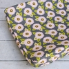Pink & Gray Dahlia Changing Pad Cover