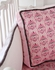 Pink & Gray Damask Ruffle Crib Bedding Set
