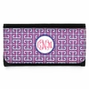 Pink Greek Key Monogram Wallet