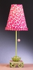 Pink Green Leopard Waterlily Stick Lamp