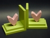 Pink Heart Bookends with Lime Base
