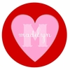 Pink Heart Personalized Melamine Plate