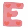 Pink Heart Wall Letter - E