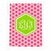 Pink Honeycomb Personalized iPad Case
