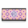 Pink Ikat Diamond Monogram Wallet